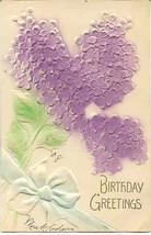 Birthday Greetings Vintage Airbrushed Post Card - $3.00