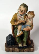 "6"" Vintage Geo Z. Lefton Hand Painted Old Doctor w/ Baby Boy Porcelain S... - $47.49"