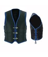 Black Biker CC Laces Vest Waistcoat Motorbike Western Wear Riding Leathe... - $115.00