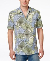 Tommy Bahama Remy Retro Silk/Cotton Button Down Shirt, Continental, Size... - $74.75