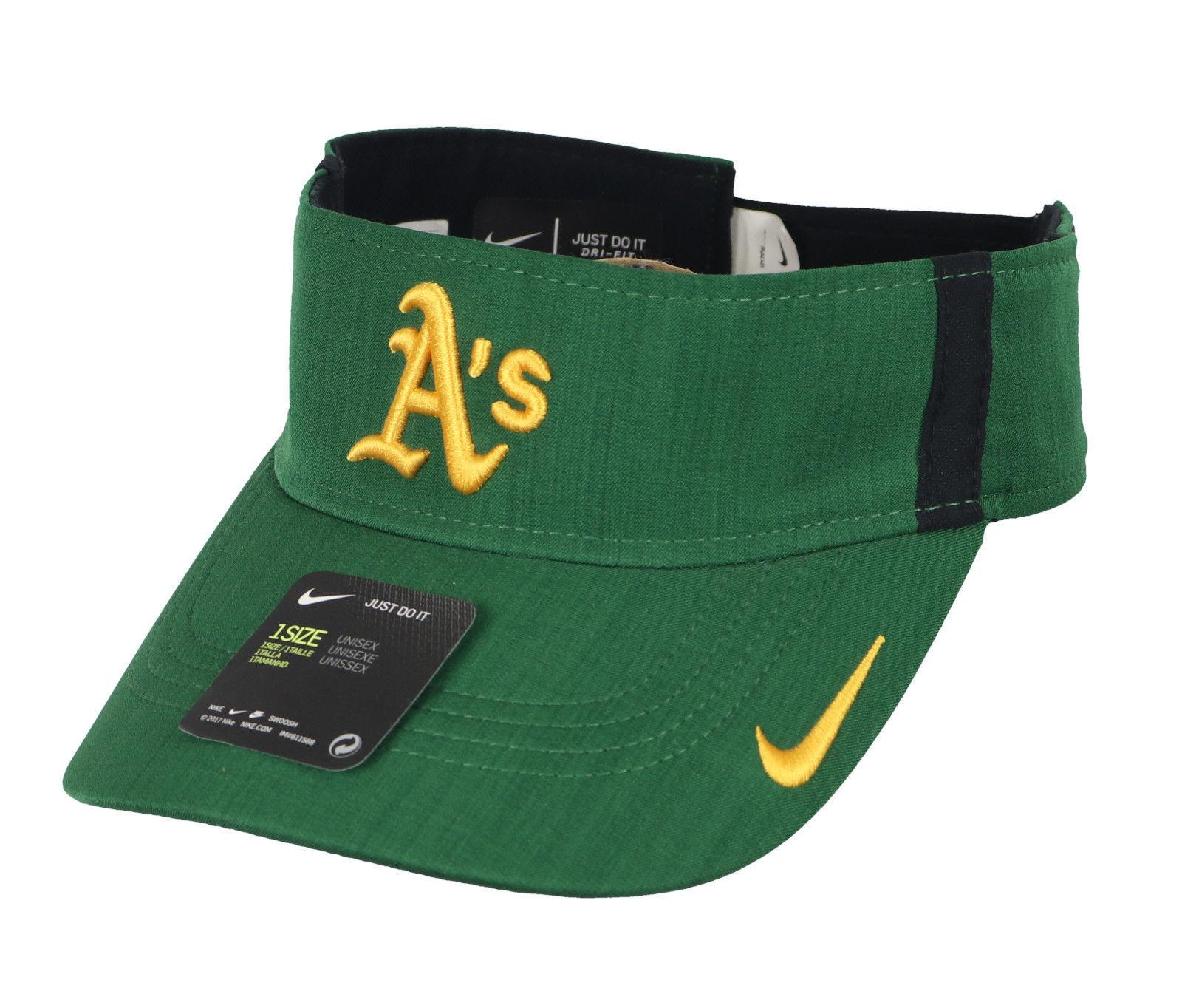 quality design 2f617 14435 S l1600. S l1600. Previous. NIKE Oakland Athletics AeroBill Vapor Visor One  Size Green Yellow Hat Cap A s