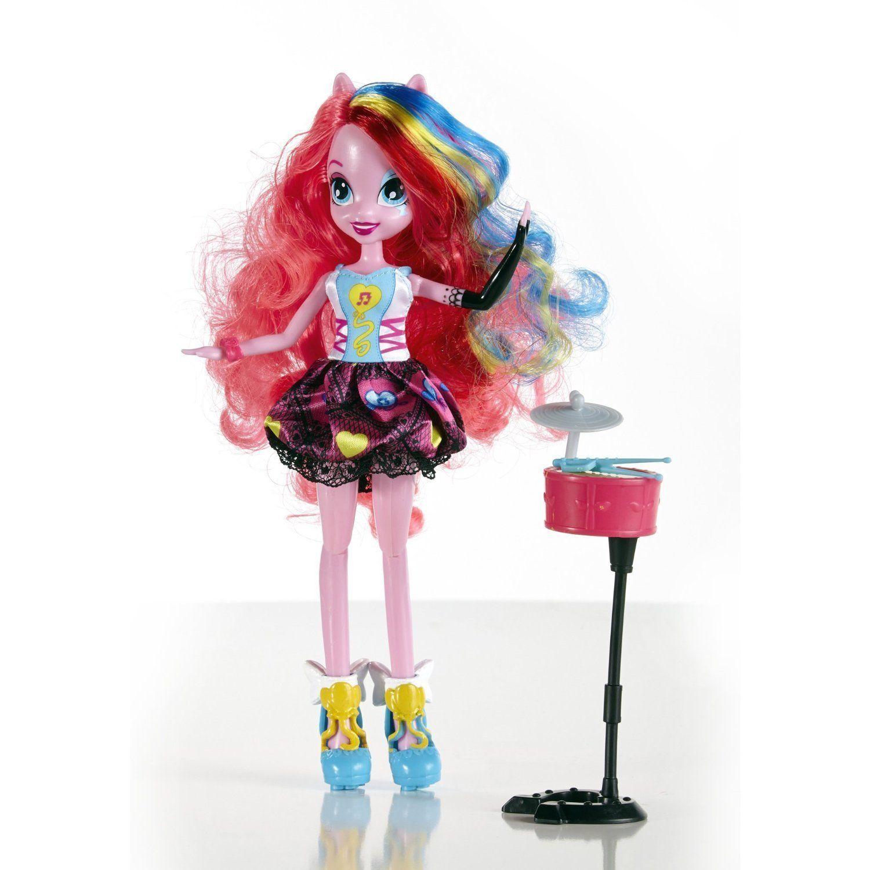 Image 1 of My Little Pony Equestria Girls Pinkie Pie Doll Rocks & Sings w/Drums 6+ Hasbro
