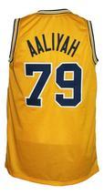 Aaliyah #79 Custom College Basketball Jersey New Sewn Yellow Any Size image 2