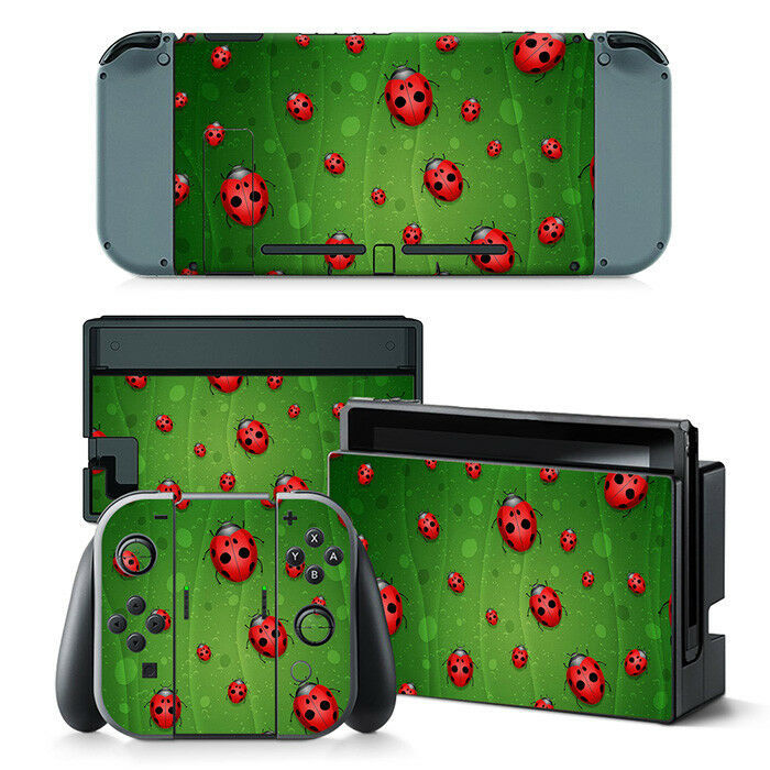 Nintendo Switch Lady Bug Console & Joy-Con Controller Decal Vinyl Skin Sticker