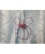Pink hand-made wire/bead Angel Ornament/Sun-catcher - $21.99