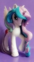 My Little Pony G4 Vinyl HTF White Princess Celestia with brushable tail ... - $9.05