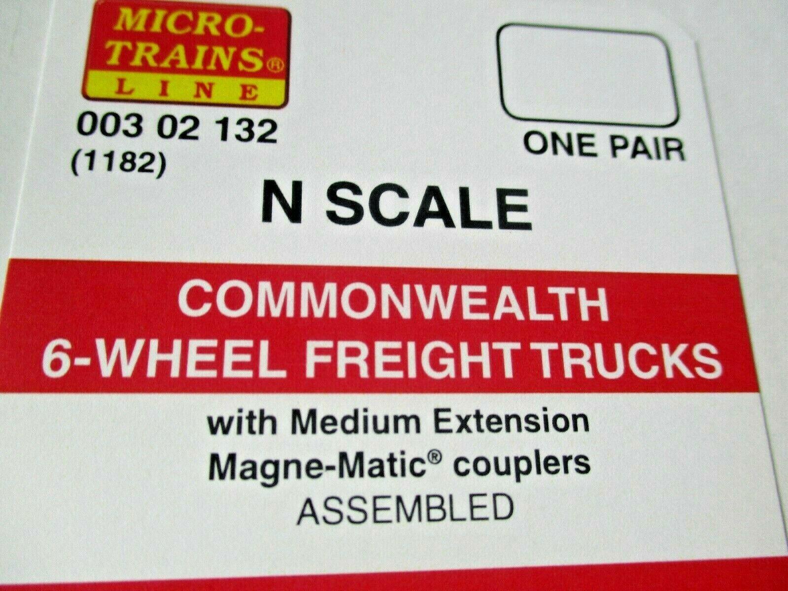 Micro-Trains Stock #00302132 (1182) Commonwealth 6-Wheel Freight Trucks Medium