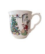 Vintage Nikko Happy Holidays Coffee Cup Mug Santa Leaving Presents Under... - $7.00