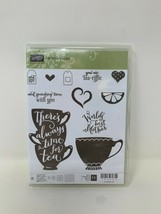 Stampin' Up A NICE CUPPA Photopolymer Clear Stamp Set Tea Coffee Cup Bra... - $34.64