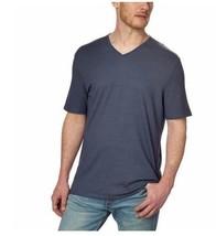 Calvin Klein Men's Textured V-Neck Short Sleeve T Shirt Top Blue  Sz M  ... - $19.41