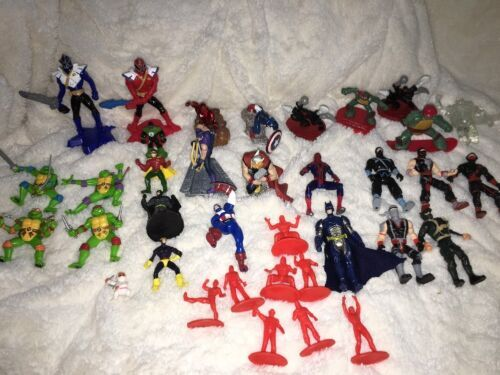 Mixed Super Hero Action Figure Lot Of 36 Marvel Ninjas Turtles Power Ranger WWE image 11