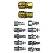 "Milton (S-210) 1/4"" NPT M-Style Coupler and Plug Kit, (12-Piece) 1-(Pack) - $17.41"