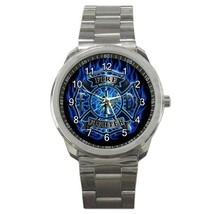 US Fire Department Blue Shield Sport Metal Watch Gift model 32049619 - $15.99