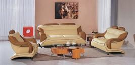 VIG Modern Divani Casa 7055 Bonded Leather Sofa Living Room Set 3Pcs