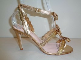 Kate Spade Size 6 M ILENE Gold Leather Bows Heels Sandals New Womens Shoes - $324.72