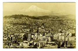Mt Hood from Portland Oregon Real Photo Postcard by Cross & Dimmitt - $17.87