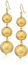 Kenneth Jay Lane Polished Gold-Tone 3 Ball Drop Earrings - $34.48