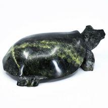 Hand Carved Zimbabwean Serpentine Stone Box Turtle Sculpture Figurine image 4