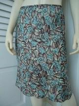 Ann Taylor Loft Sz 6P Skirt Poly Straight Flounce Hem Floral Print Lined Sassy! - $32.66