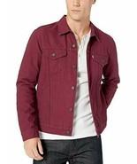 Levi's Mens XXL Denim Jean Trucker Jacket Button Front Burgundy Red 7233... - $104.94