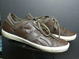 "Men's CUSHE Brown Leather ""The Standard"" Classic Sneaker Sz. 10M MINT! - $45.07"