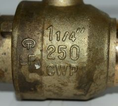 CMi 1 1/4 Inch Lead-Free Brass Full Port Ball Valve Cold Working Pressure image 5