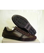 Lacoste berryman srm lth casual shoes leather dark brown size 10 us new   - $148.45