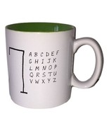 "Large Oversized White Hangman Game Coffee Cup Mug 4"" Tall EUC - $49.99"