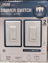 FEIT Electric White Dimmer Switch LED Lighting PLUS Wall Plates 3-way, 2... - $20.00
