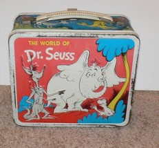 Vintage 1970 The World of Dr. Seuss Metal Lunch Box No Thermos Cat in the Hat cc - $100.00