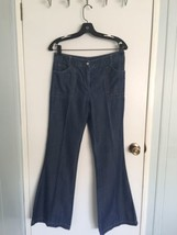 Nine West Womens Tencel 100% Soft Cotton Flared Leg Blue Jeans Size 6 - $12.99