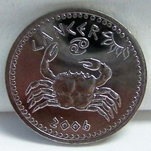 SOMALILAND CANCER CRAB 4TH SIGN ZODIAC BIRTHDAY 06 COIN uncirculated - $9.79