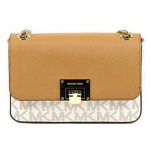 Beige ONE SIZE Michael Kors Womens Handbag TINA 35T7GT4F2B VANILLA ACRN - $314.20