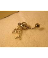 BELLY NAVEL RING DIAMOND CRYYSTAL DOLPHIN #688C - $7.99
