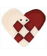 "Swedish Heart 3469 handmade clay button .875"" JABC Just Another Button Co - $1.60"