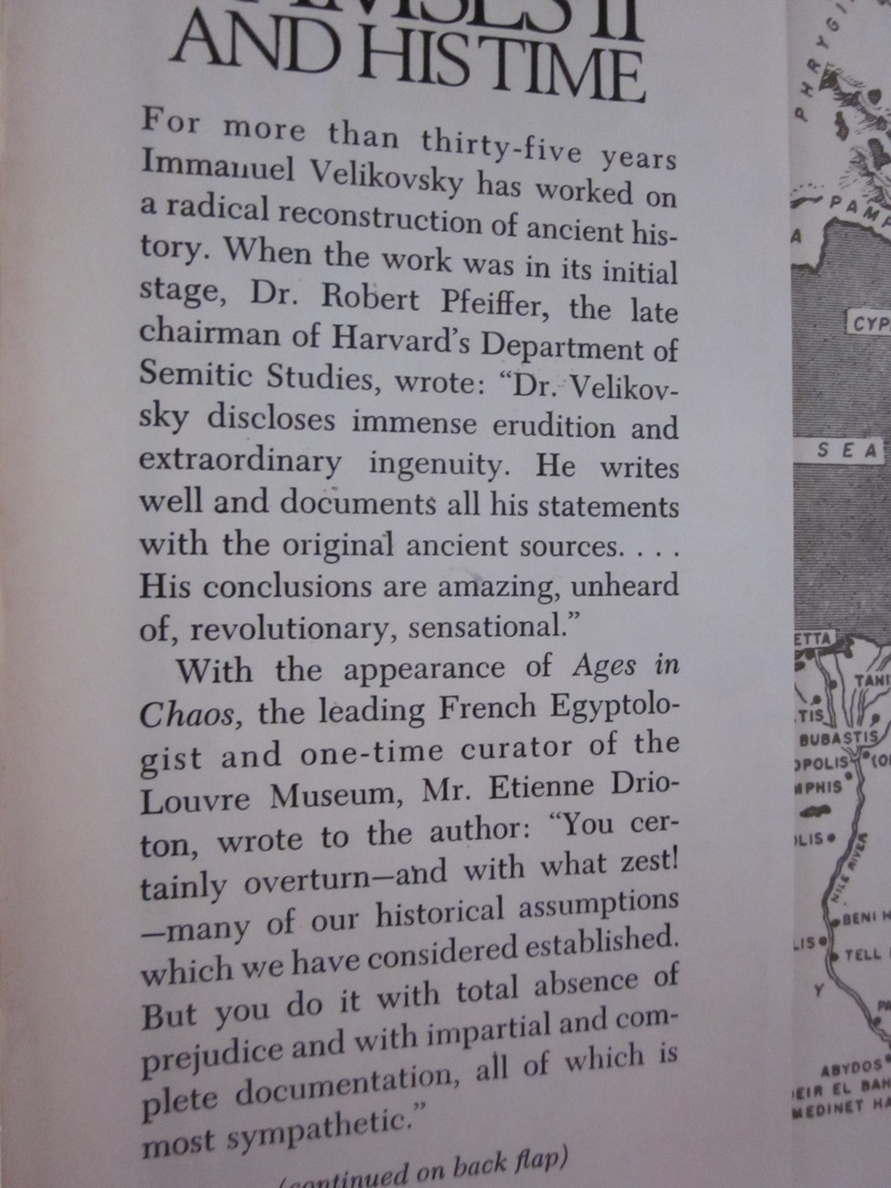 Ramses II And His Time by Immanuel Velikovsky  1978