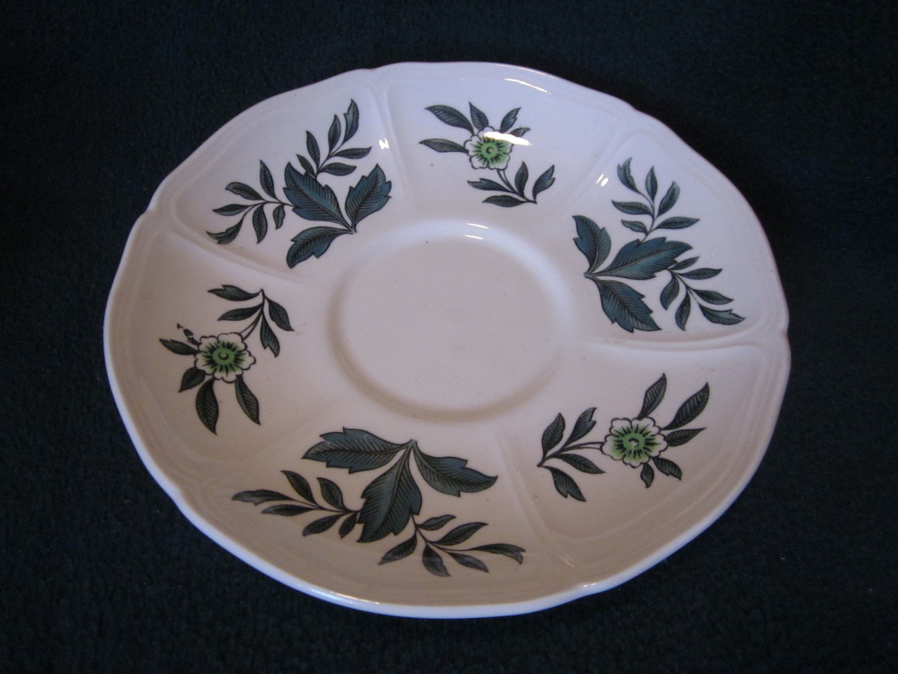 Wedgwood Green Leaf Barlastin Replacement Saucer Lot 7