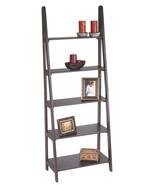 Espresso Finish Wood Ladder Style Book Case She... - $114.99