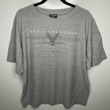 Harley Davidson T-Shirt Men's 2XL Gray 1995 Cincinnati Eastgate Ohio Vtg... - $21.84