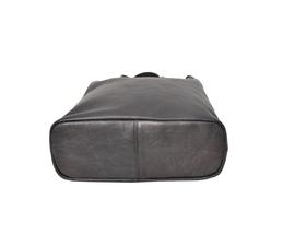 Women's Leather Boho Chic Purse Studded Expandable Lined Transport Tote Handbag image 5