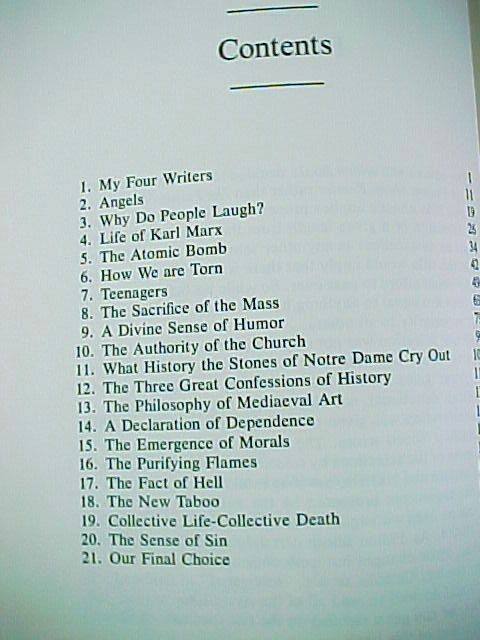 A Fulton Sheen Reader -Bishop Sheen - 1979 - Hardback Book -Carillon Books