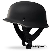 New XL Flat Black Fly Racing DOT Approved German Beanie STyle Motorcycle Helmet image 1