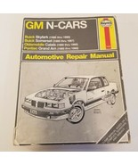 GM N Cars Haynes Repair Manual 1985 to 1990 Repair Manual 1420 Book - $14.03