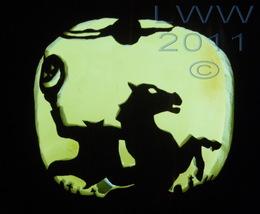 Hand-carved Headless Horseman Graveyard Foam Halloween Jack-o-lantern Pu... - $34.99