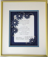 Custom Keepsake for the Bride & Groom: quilled ... - $100.00