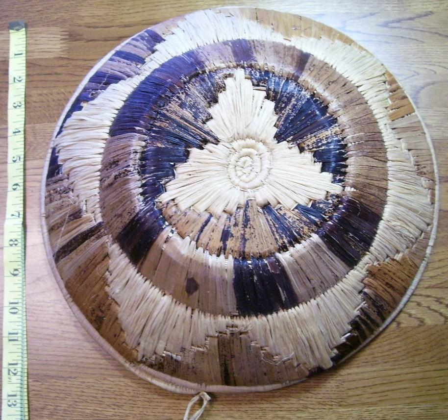 Japanese Large Handwoven Fruit Basket Beautiful Wow!