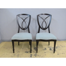 Henredon Dean Collection Cooper Upholstered Wood Side Dining Chairs 2300... - $999.00