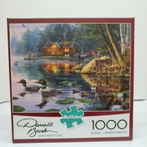 Darrell Bush ~ Early Reflections ~ Wildlife Lake Cabin 1000 Piece Puzzle... - $19.99