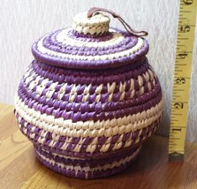Japanese Handcrafted Basket Box Very Useful Look! - $11.25