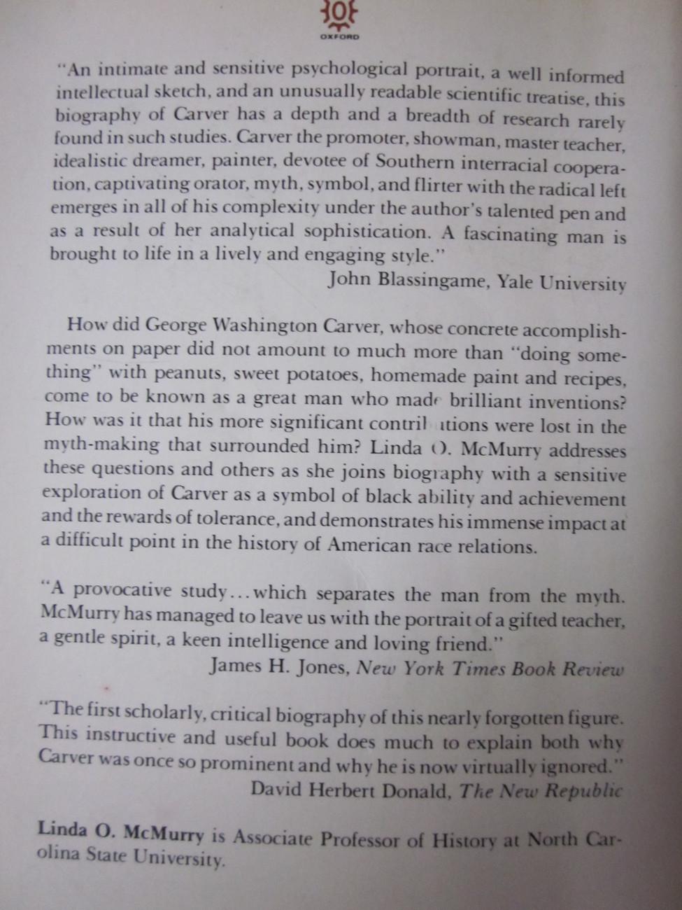 George Washington Carver Scientist & Symbol Linda O. McMurry